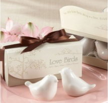 Dove Salt & Pepper Ceramic Shakers